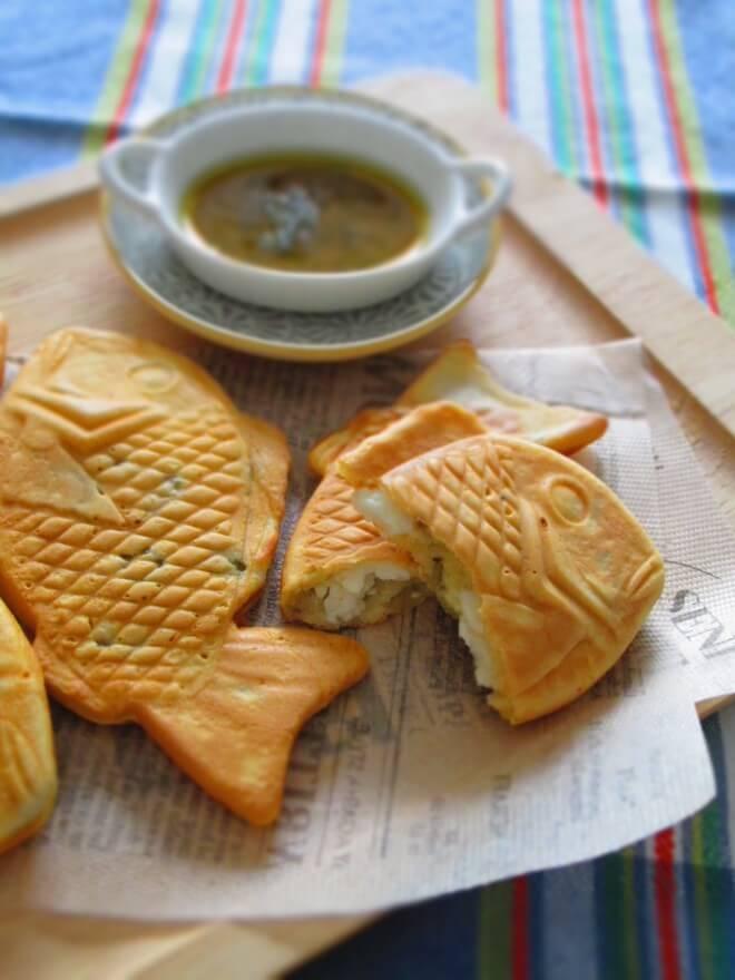 フェタチーズとオリーブのたい焼き